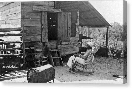 Racism Canvas Print - 102 Year Old Woman At Her Home by Underwood Archives