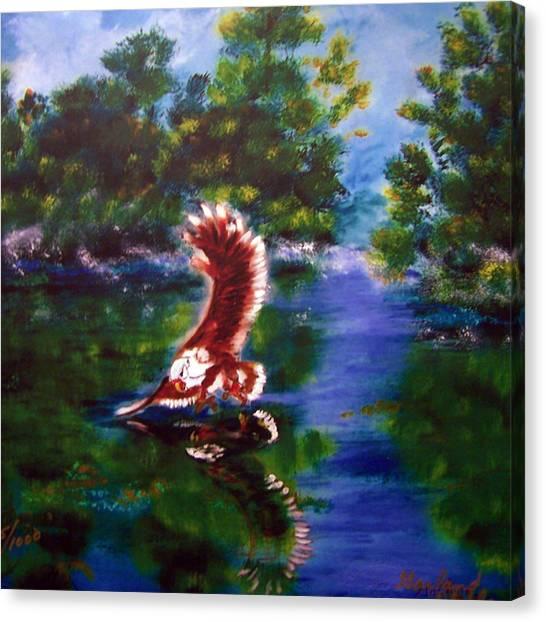1044426 Digital Eagle Canvas Print