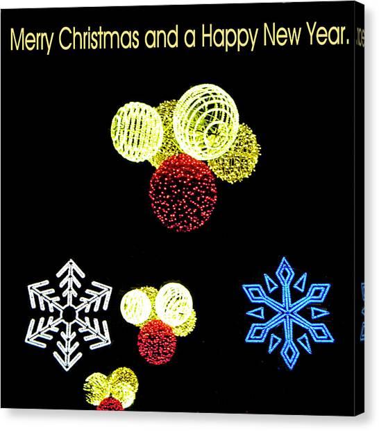 105 - Malaga Christmas Lights  Canvas Print by Patrick King