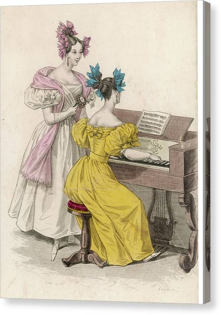 Harpsichords Canvas Print - Untitled by Mary Evans Picture Library