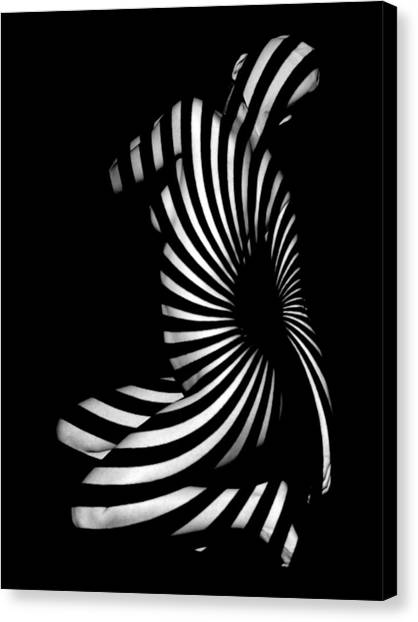 1055  Experimental Abstract Nude Art Canvas Print