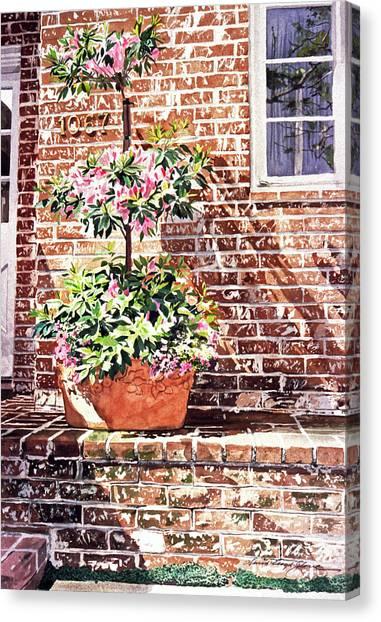 1067 Azalea Way Canvas Print by David Lloyd Glover