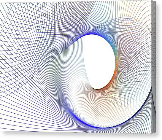 Canvas Print - Abstract Line Pattern by Pasieka
