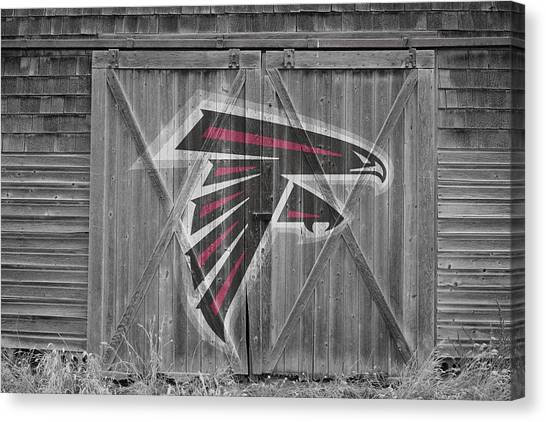 Falcons Canvas Print - Atlanta Falcons by Joe Hamilton
