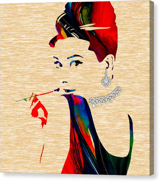 Hepburn Canvas Print - Audrey Hepburn Collection by Marvin Blaine