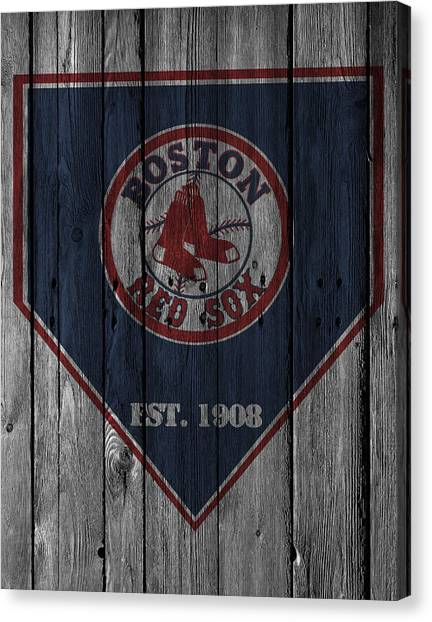 Bases Canvas Print - Boston Red Sox by Joe Hamilton