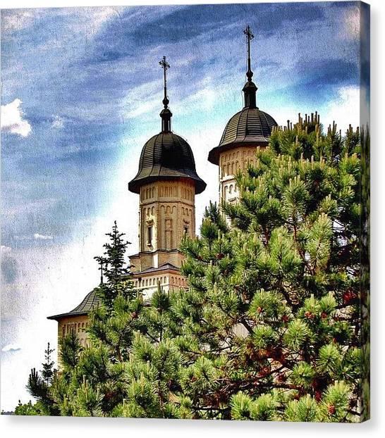 Orthodox Art Canvas Print - Cetățuia Monastery,iași by Octav Studio
