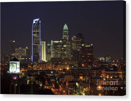 Charlotte Skyline Canvas Print