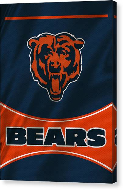 Chicago Bears Canvas Print - Chicago Bears Uniform by Joe Hamilton