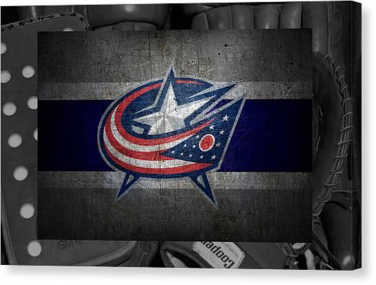 Columbus Blue Jackets Canvas Print - Columbus Blue Jackets by Joe Hamilton