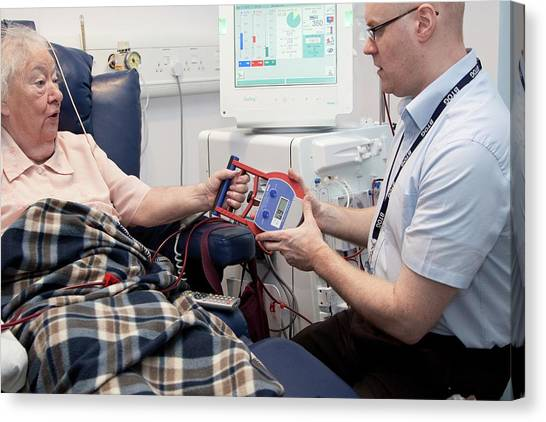 Dialysis Unit Canvas Print by Life In View/science Photo Library