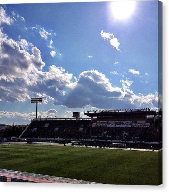 Soccer Canvas Print - #gambaosaka #soccer #game #event by Takeshi O