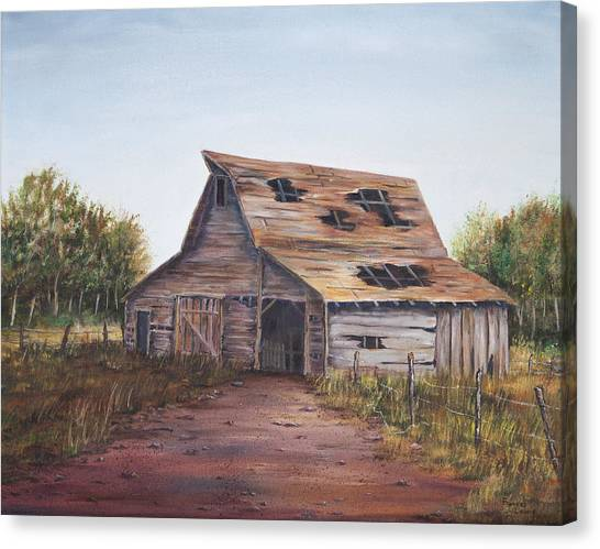 James Lewis Canvas Print - Rusty Roof by Frances Lewis