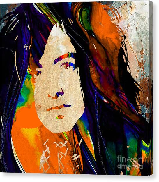 Jimmy Page Canvas Print - Jimmy Page Collection by Marvin Blaine
