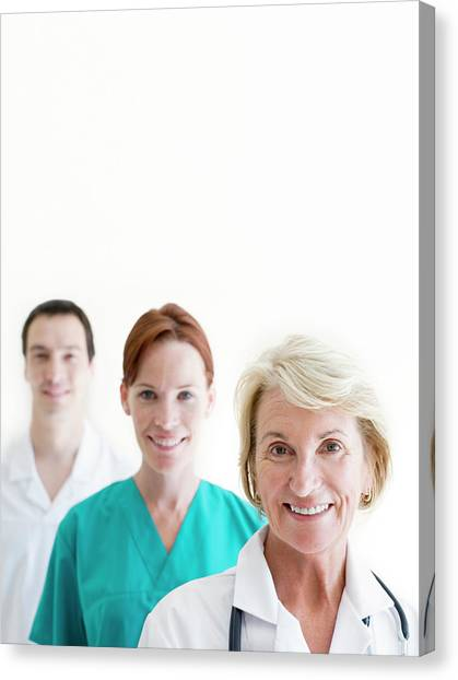 Medical Staff Canvas Print by Ian Hooton/science Photo Library