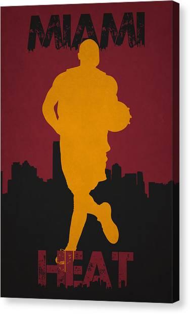 Dwayne Wade Canvas Print - Miami Heat by Joe Hamilton