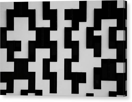 Study Of Patterns And Lines Canvas Print by Roland Shainidze Photogaphy