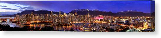 Vancouver Skyline Canvas Print - Vancouver Skyline Panorama by Wesley Allen Shaw