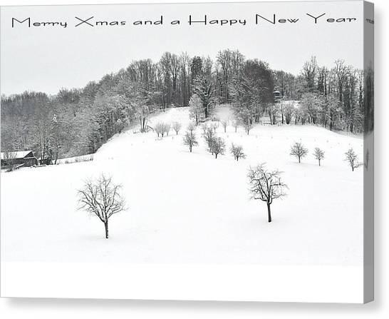 111 - Snowscape Canvas Print by Patrick King