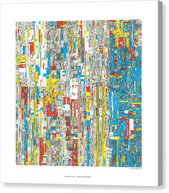 Pi Canvas Print - 111469 Digits Of Pi by Martin Krzywinski