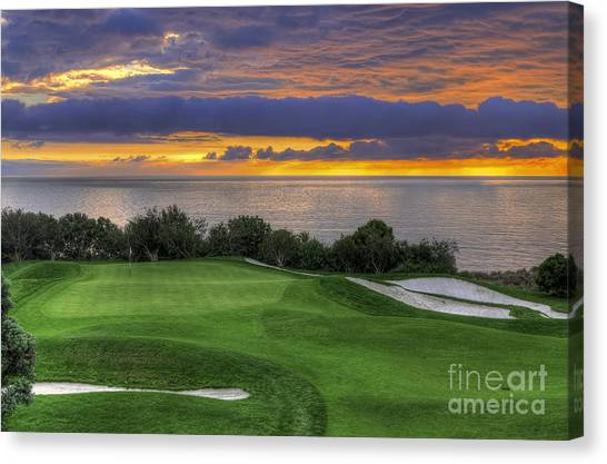 11th Green - Trump National Golf Course Canvas Print