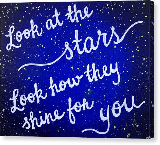 Coldplay Canvas Print - 11x14 Look At The Stars by Michelle Eshleman