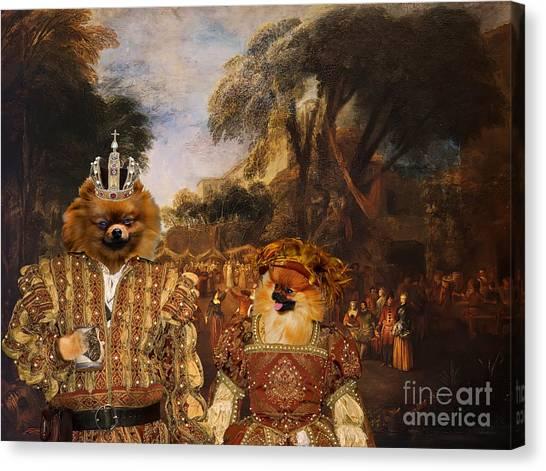 Pomeranians Canvas Print -  Pomeranian Art Canvas Print  by Sandra Sij