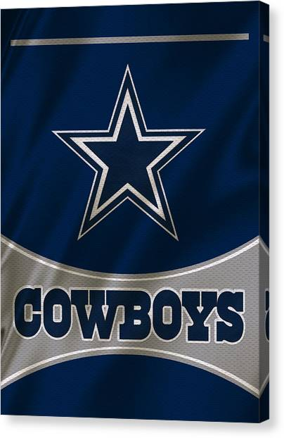 Dallas Cowboys Canvas Print - Dallas Cowboys Uniform by Joe Hamilton