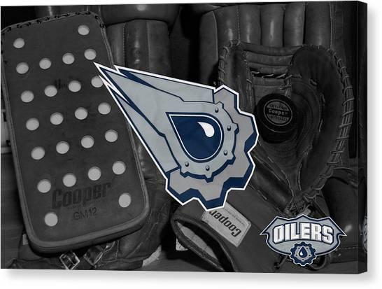 Edmonton Oilers Canvas Print - Edmonton Oilers by Joe Hamilton