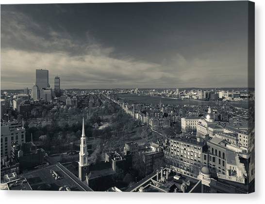 House Of Worship Canvas Print - High Angle View Of A City by Panoramic Images