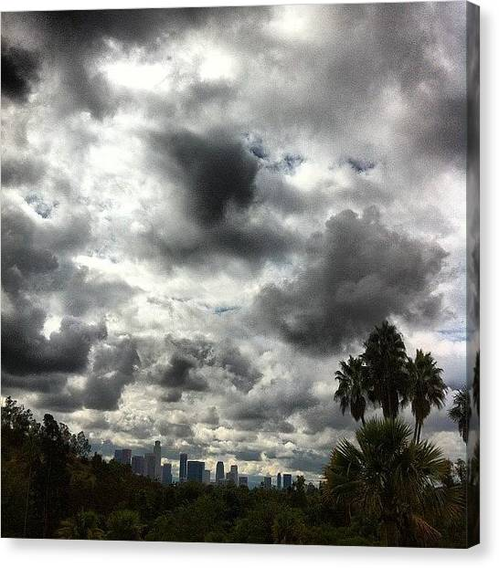 Los Angeles Skyline Canvas Print - Instagram Photo by Brian Huskey