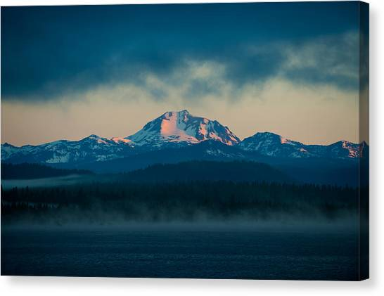 Lassen Canvas Print - Lake With Mountains In The Background by Panoramic Images