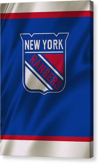 New York Rangers Canvas Print - New York Rangers by Joe Hamilton