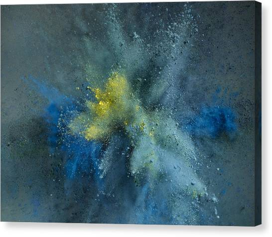 Powder Explosion Canvas Print by Sunny