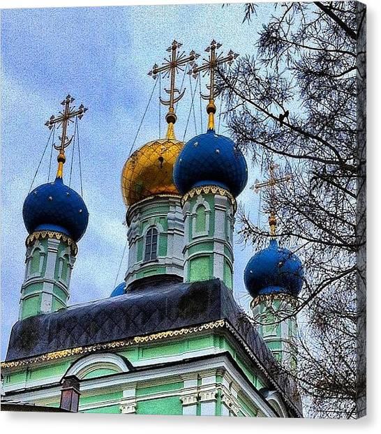 Orthodox Art Canvas Print - #russia by Helen Vitkalova