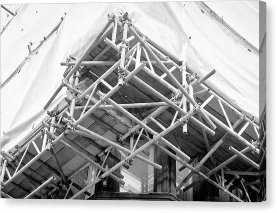 Renovation Canvas Print - Scaffolding by Tom Gowanlock