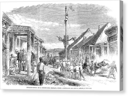 China Town Canvas Print - Second Opium War, 1860 by Granger