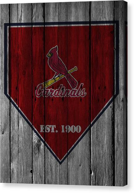 Cardinals Canvas Print - St Louis Cardinals by Joe Hamilton