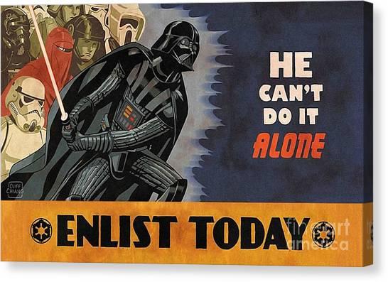 Darth Vader Canvas Print - Star Wars by Baltzgar
