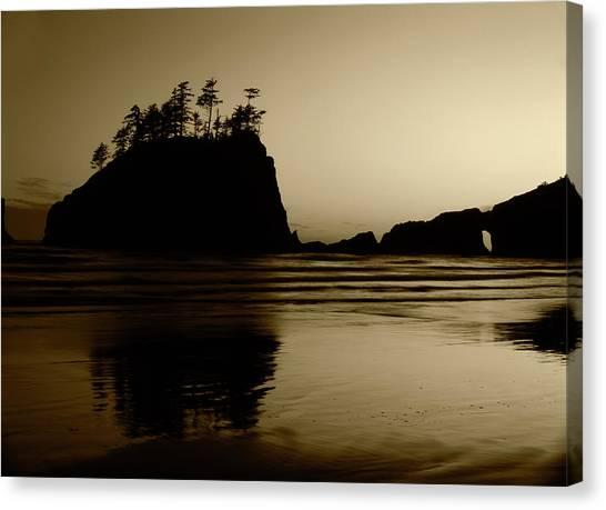 Beach Cliffs Canvas Print - Usa, Washington State, Olympic National by Stuart Westmorland