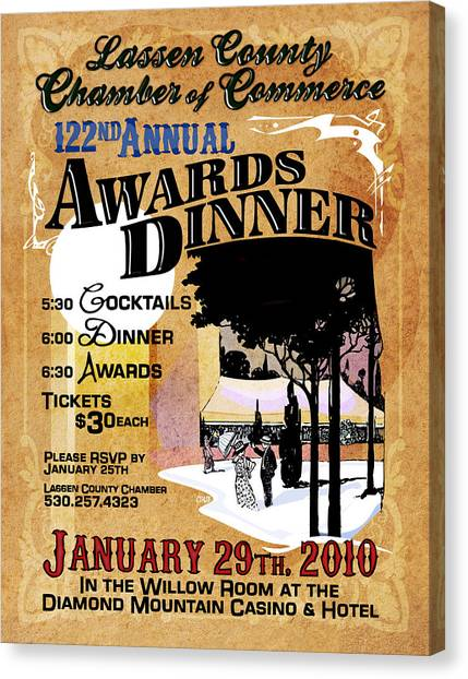 122nd Annual Awards Dinner Canvas Print by The Couso Collection