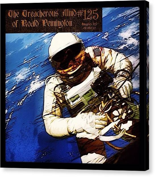 "Astronauts Canvas Print - 125 - ""i Continue The Repairs And by Roald Pennington"