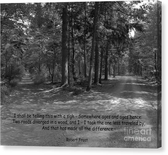 12a- Robert Frost  Canvas Print