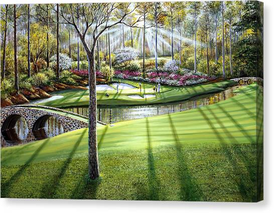 Augusta Canvas Print - 12th At Augusta National by Raymond Sipos