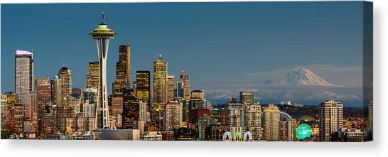 Seattle Seahawks Canvas Print - 12th Man City by Dan Mihai