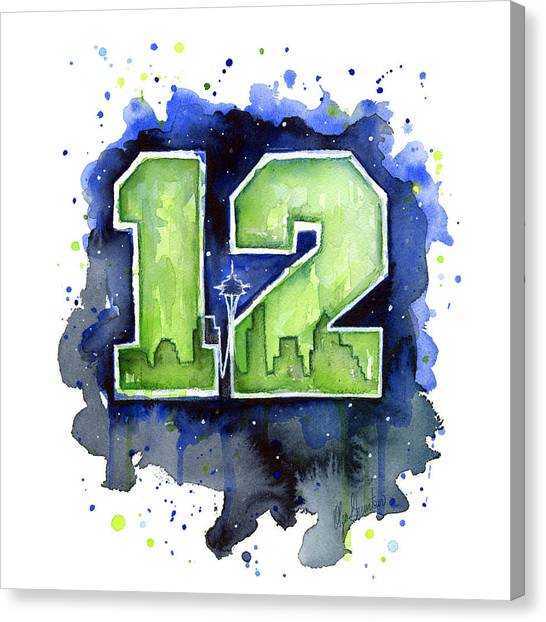 Hawks Canvas Print - 12th Man Seahawks Art Seattle Go Hawks by Olga Shvartsur