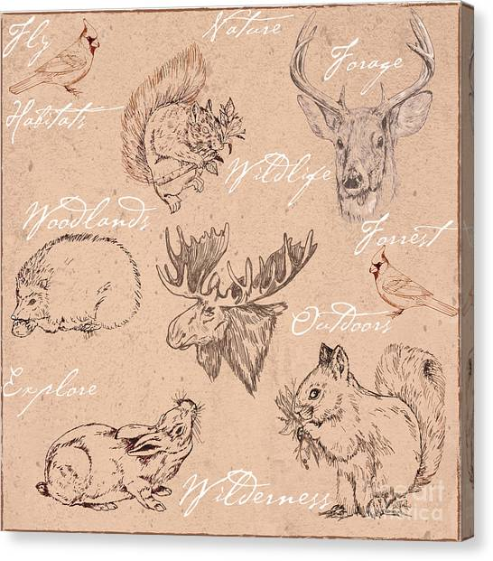 Wildlife Animal Pattern Canvas Print