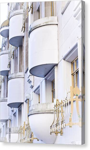 Bachelor Canvas Print - Balconies by Tom Gowanlock