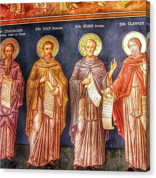 "Saints Canvas Print - Biserica ""sf. Nicolae Domnesc"" by Octav Studio"