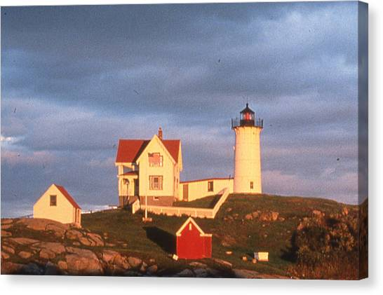 Cape Neddick Light  Canvas Print by Herbert Gatewood
